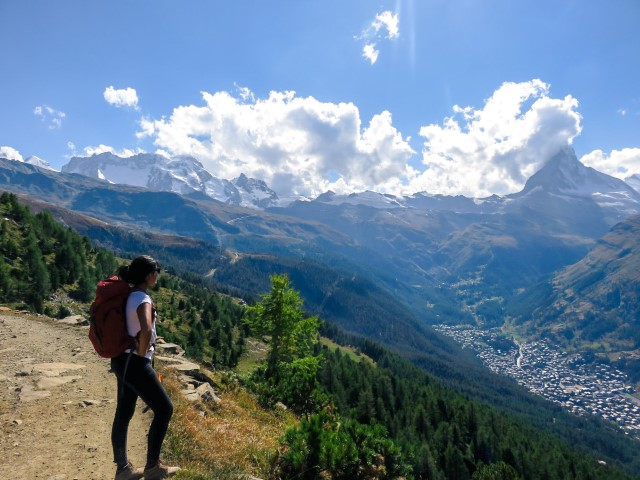 Vistas al Matterhorn desde la Panoramaweg