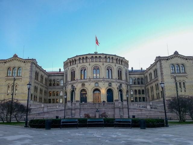Parlamento noruego en Oslo