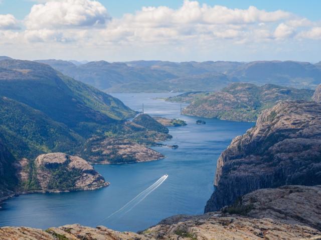 Vistas desde la cima hacia Stavanger