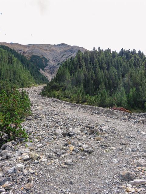 Lecho de rocas parque nacional suizo