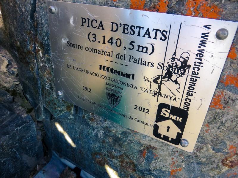 Cima Pica d'Estats Pirineos