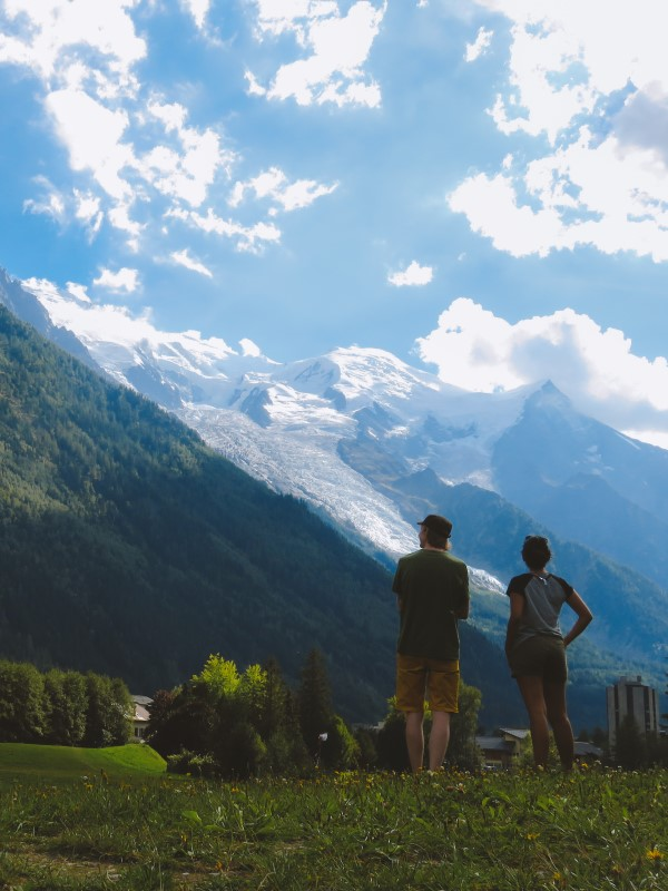 Vistas al Montblanc desde Chamonix