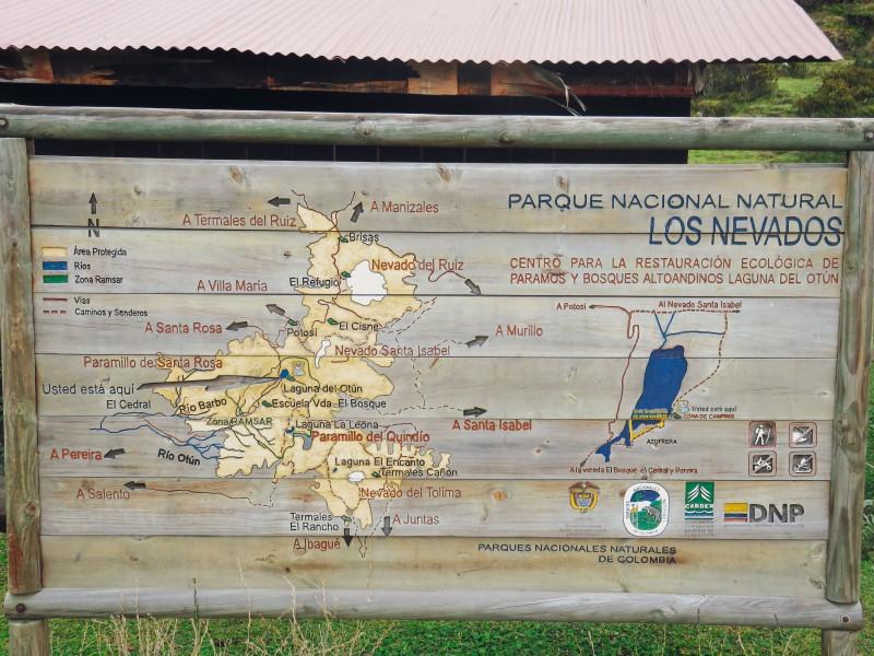 mapa senderismo colombia