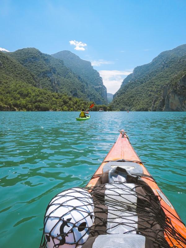 Monterebei en kayak
