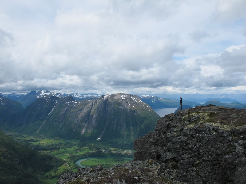Noruega, ruta al Romsdalseggen