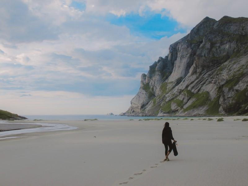 Playa de Bunes en Lofoten