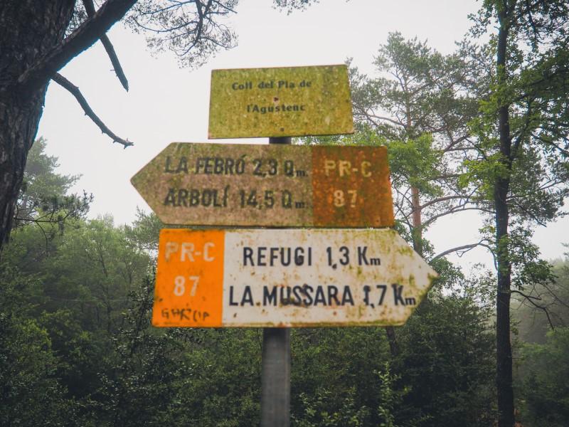 Ruta Avencs de la Febró desde la Mussara